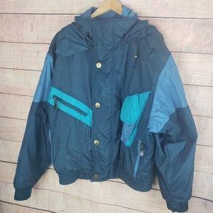 Vintage Nils Skiwear Striped Ski Jacket Coat